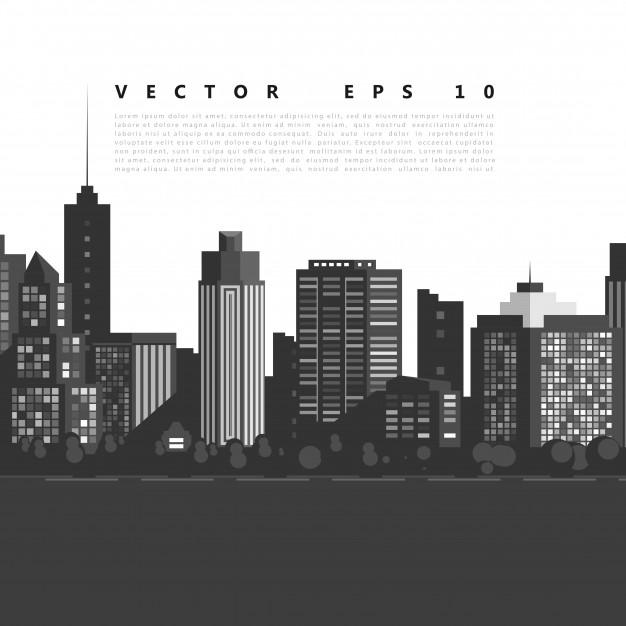 626x626 Vector Modern City. Vector Free Download