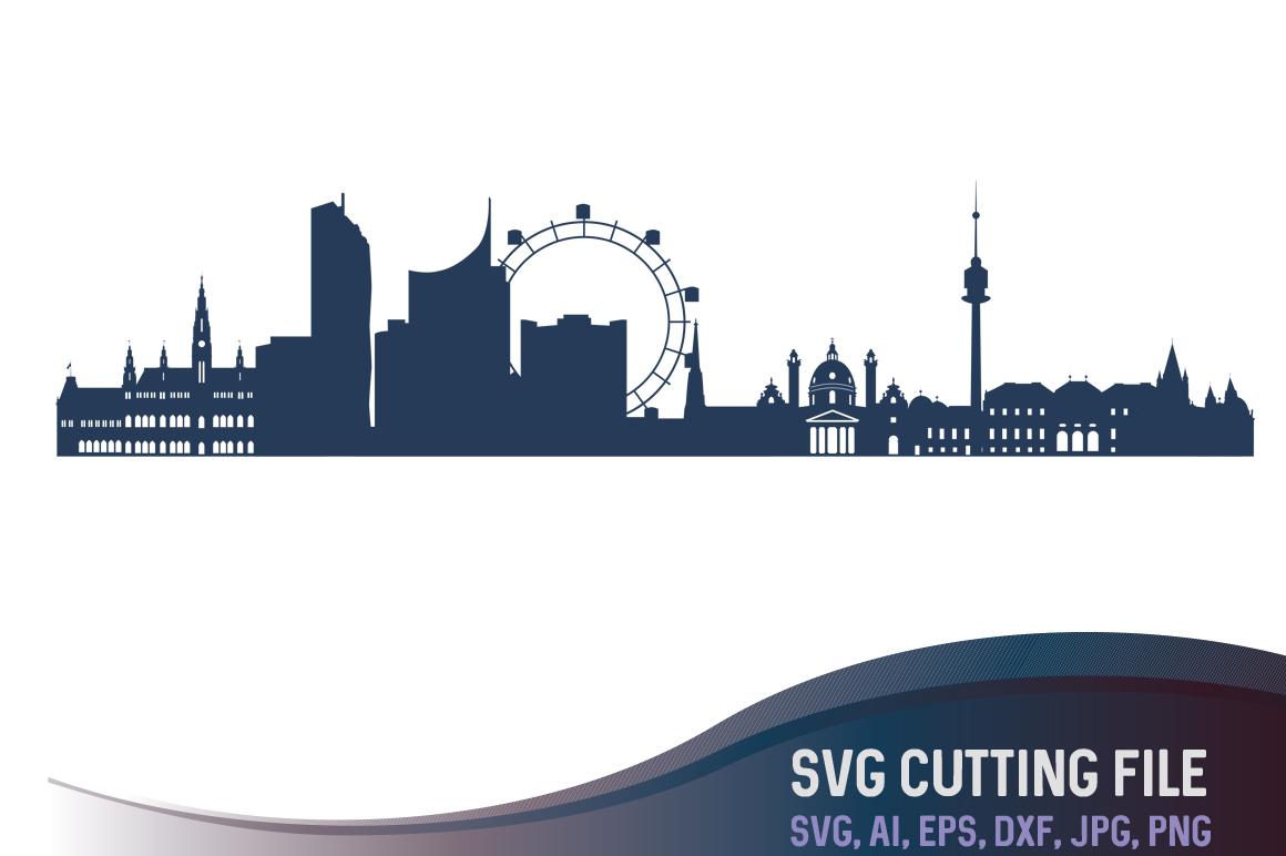 1160x772 Vienna Vector Skyline, Vienna Svg, Austria City Vector, European