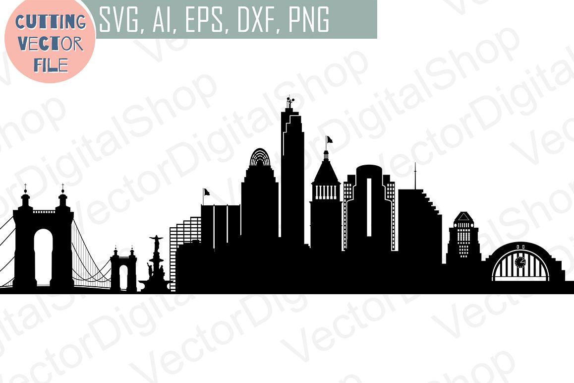 1158x772 Cincinnati Svg, Ohio City Vector Skyline, Silhouette Usa City, Svg