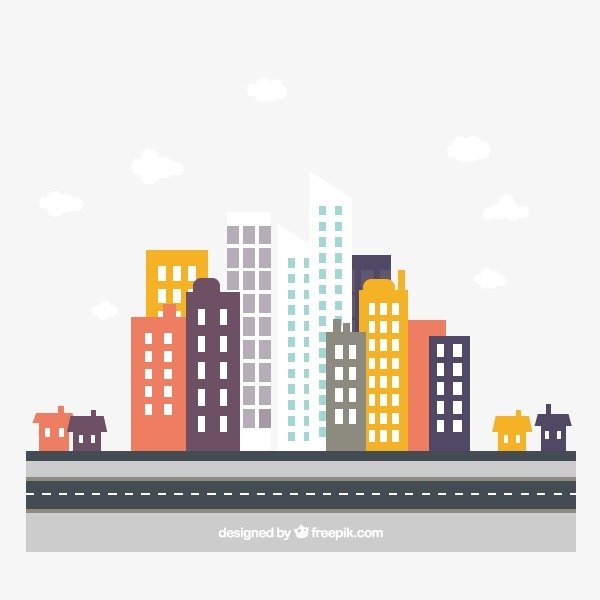 600x600 City,city Flat, City Vector, City, City Flat Png And Vector For
