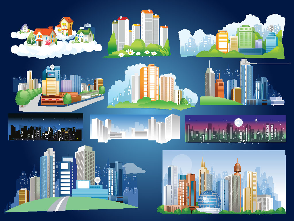 1024x768 City Background Pack