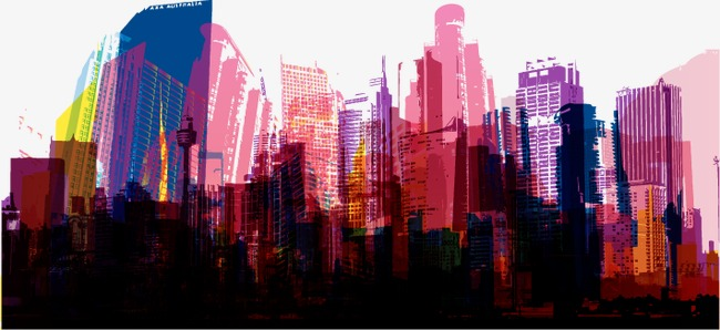 650x298 Color City, Color Vector, City Vector, City Banner Background Png