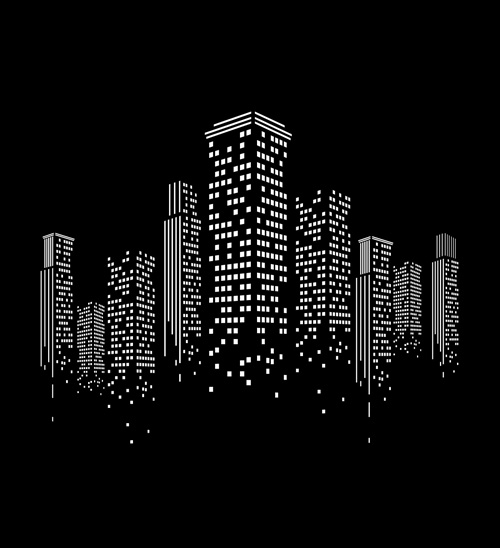 500x548 Creative City Vector Backgrounds 01 Free Download
