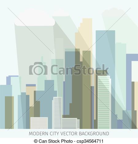 450x469 Modern Cityscape Vector. Conceptual Vector Illustration With