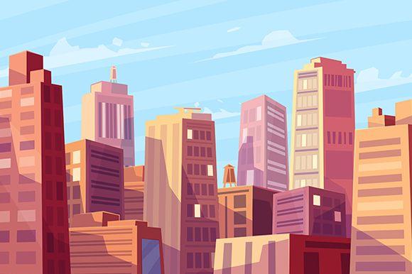 580x386 Pin By Amith R K On Illustration Cartoon City, City