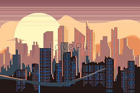 450x300 City Vector Illustration City Vector Images Modern City Vector