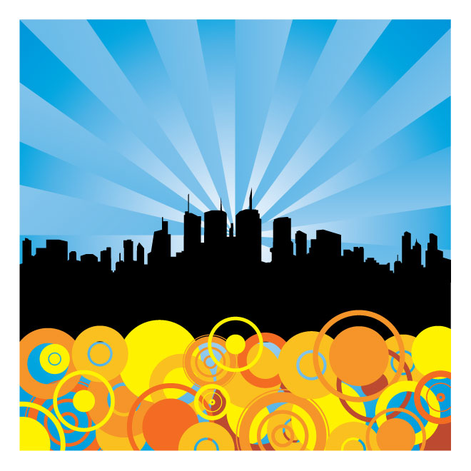 660x660 Abstract City Vector Background