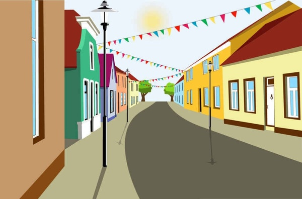 600x396 Beautiful City Building Vector Background Free Vector In