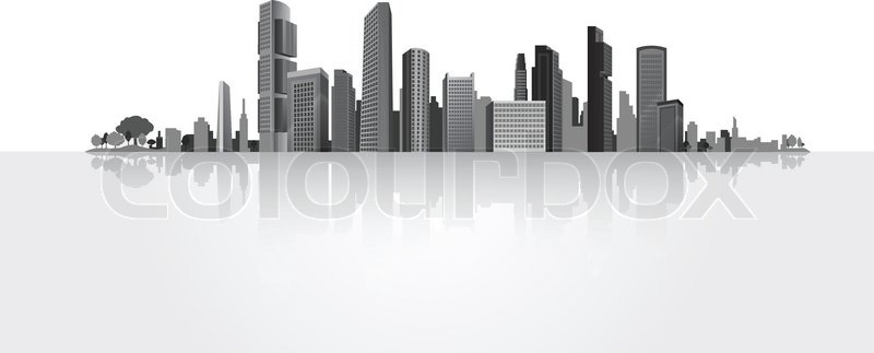 800x323 Big City (Town),vector,background,business Stock Vector Colourbox