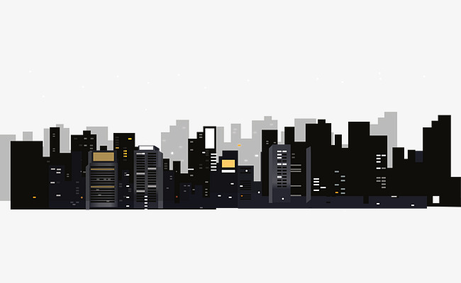 650x400 Vector Night Sky City Building, City Vector, Building Vector, City