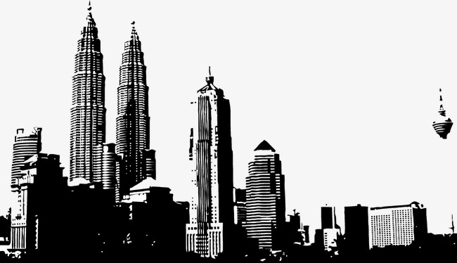 650x374 City Silhouette, City Vector, Silhouette Vector, Sketch Png And