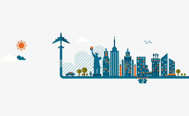 650x400 Creative American Cities Vector, Blue, City, Building Png And