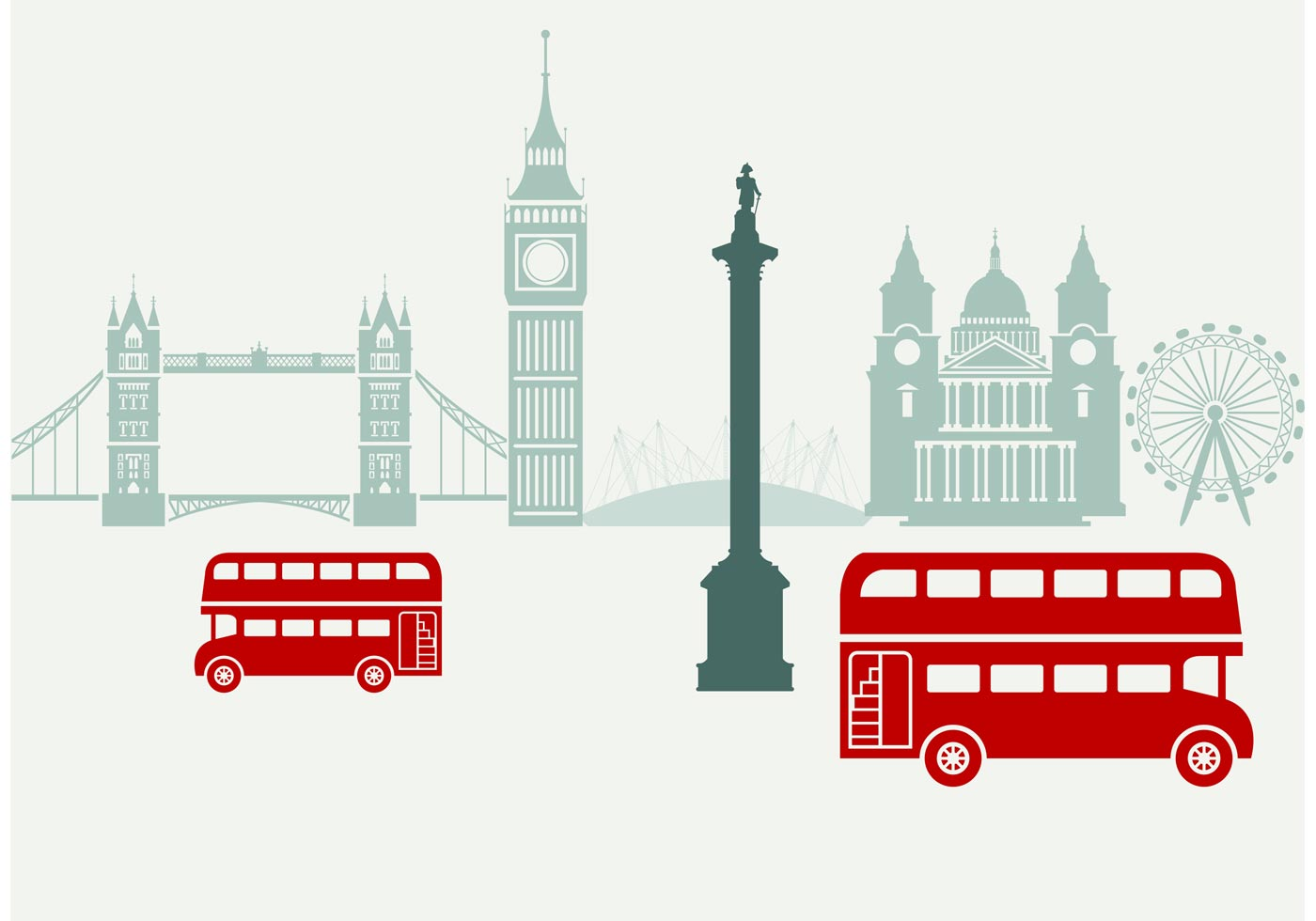 1400x980 London Free Vector Art