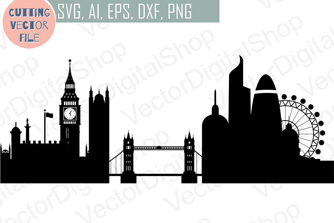 1158x772 London Skyline Vector, England City, Svg, Jpg, Png, Dwg, Cdr, Eps, Ai