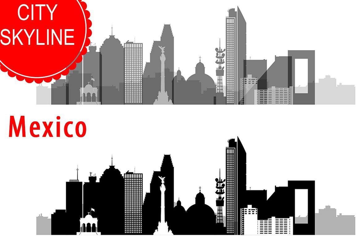 1158x772 Mexico City Vector, Skyline, Svg, Jpg, Png, Dwg, Cdr, Eps, Ai