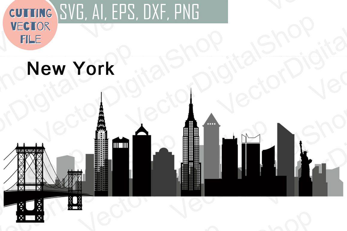 1158x772 New York Vector, Skyline Usa City, Svg, Jpg, Png, Dwg, Cdr, Eps, Ai