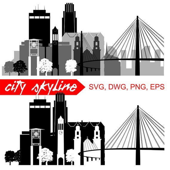570x570 Omaha Nebraska Svg Omaha City Vector Skyline Omaha Etsy