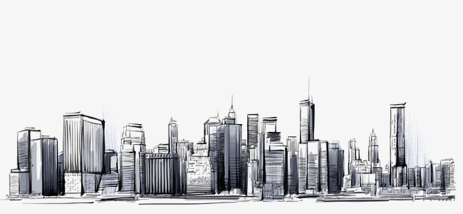 650x300 City, Hand Painted City Skyline, City Vector Png And Vector For