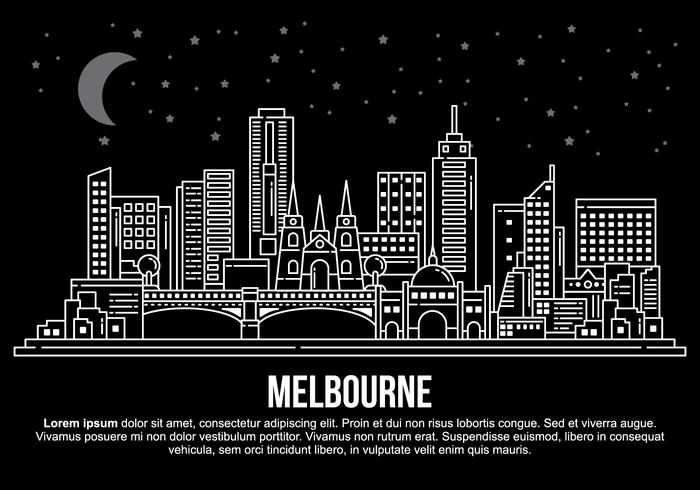 700x490 De Vector De La Ciudad De Melbourne