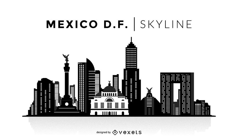 900x529 Mexico City Silhouette Skyline