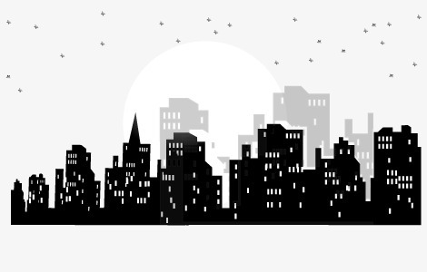 470x300 Vector Night, Night, Houses, City Png And Vector For Free Download