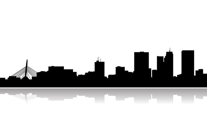 700x467 Vinilo Pixerstick Winnipeg Horizonte De La Ciudad Vector Pixers
