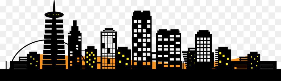 900x260 City Silhouette Skyline Clip Art