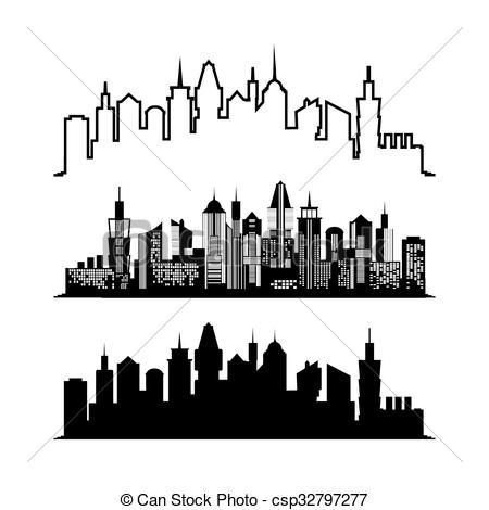 450x470 Ciudad, Conjunto, Vector, Arquitecto, Rascacielos