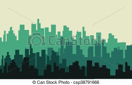 450x290 Ciudad, Vector, Silueta, Grande. Ciudad, Silueta, Grande