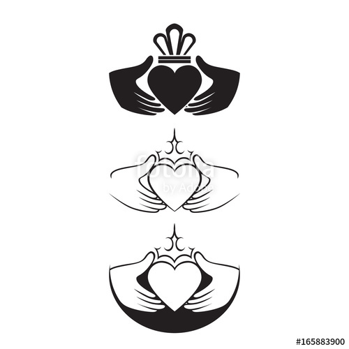 500x500 Claddagh Symbols Stock Image And Royalty Free Vector Files On