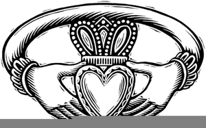 300x187 Clipart Claddagh Rings Free Images
