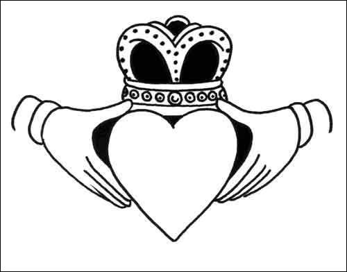 500x392 Collection Of Claddagh Ring Drawing High Quality, Free