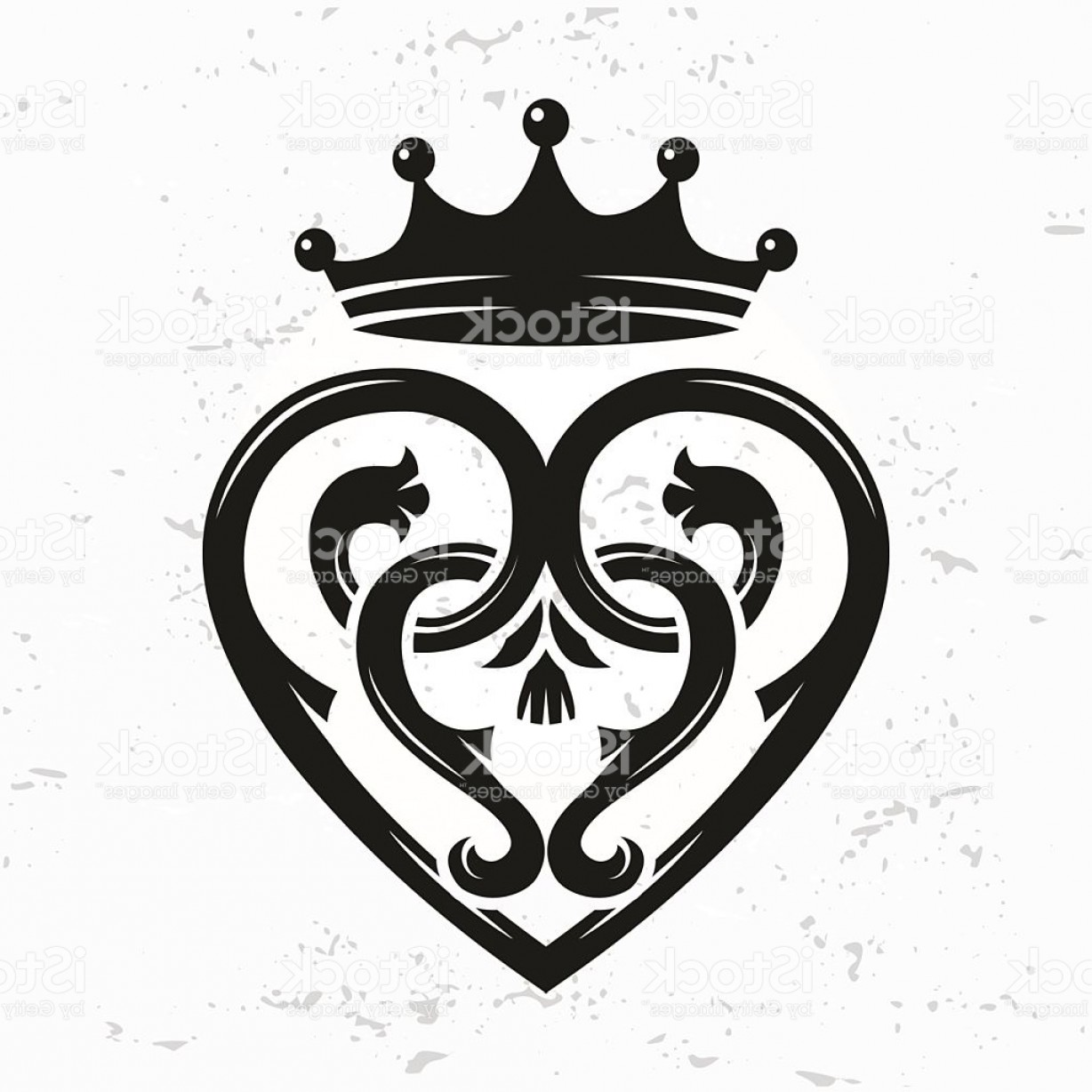 1228x1228 Scottish Luckenbooth Brooch Vector Queen Mary Celtic Heart With