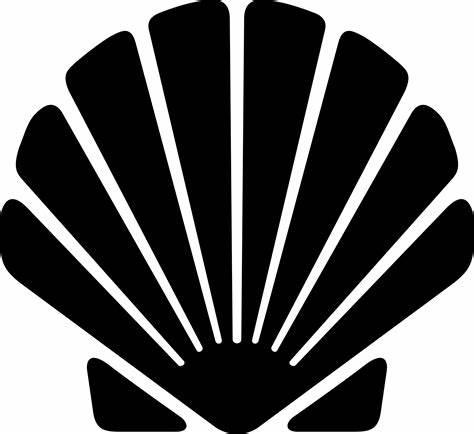 474x434 Clam Shell Silhouette Vector. Mermaid Clipart Seashell Pencil
