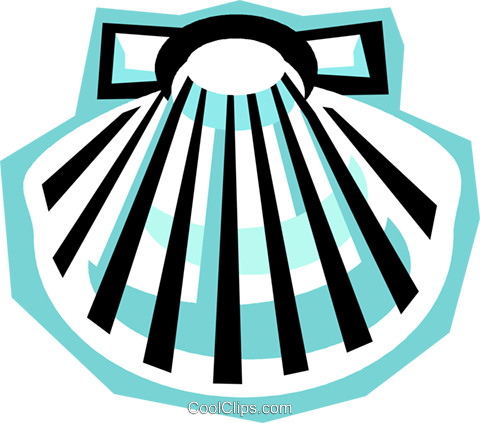 480x423 Clam Shell Royalty Free Vector Clip Art Illustration Vc010795