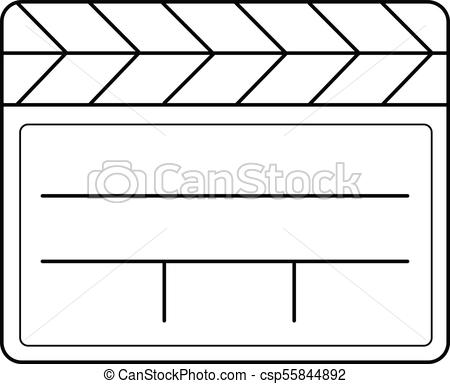 450x384 Clapboard Line Icon. Clapboard Vector Line Icon Isolated On White
