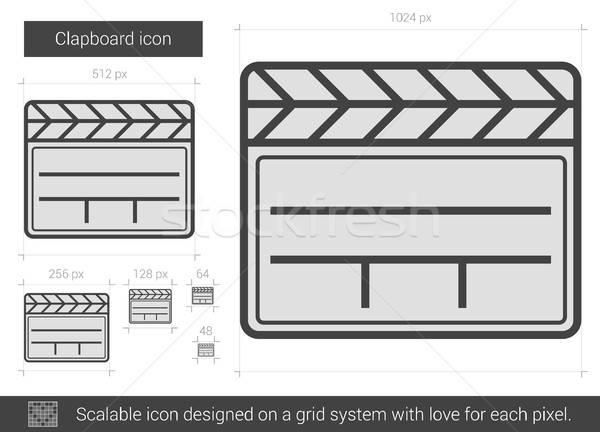 600x432 Clapboard Line Icon. Vector Illustration Andrei Krauchuk