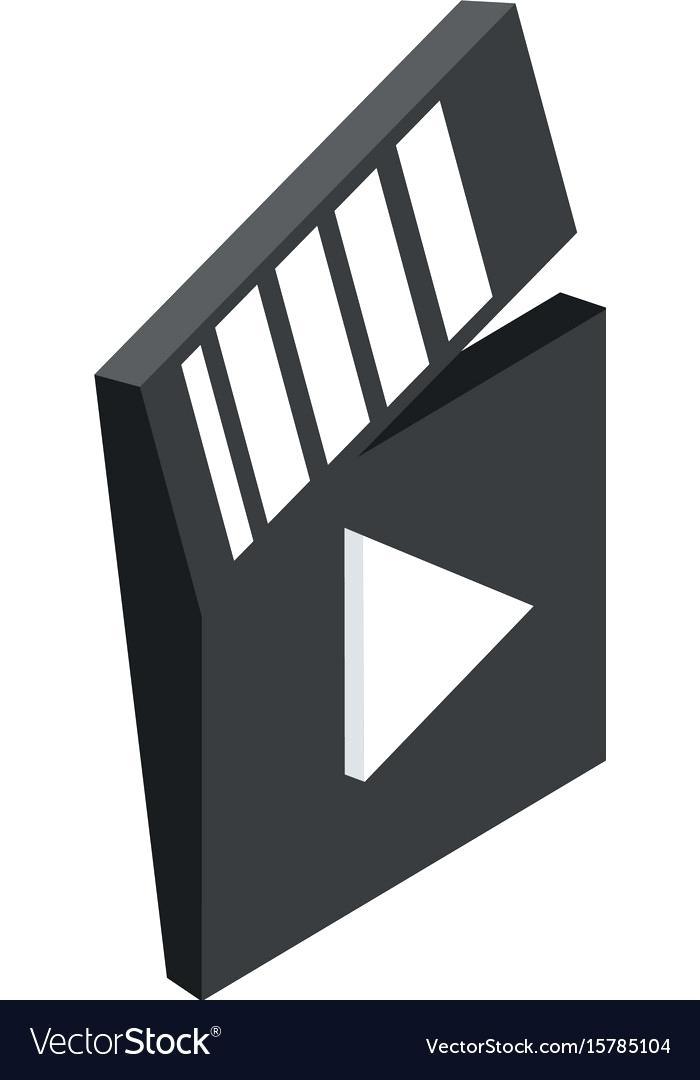 700x1080 Closed Clapboard Vector Illustration Directors Template Movie