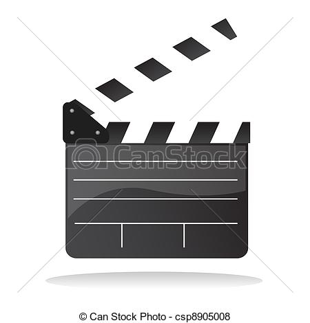 450x470 Directors Cut Clap Board. Isolated Illustration Of Director Clap
