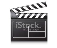 240x200 Film Clapboard Vector Stock Vectors