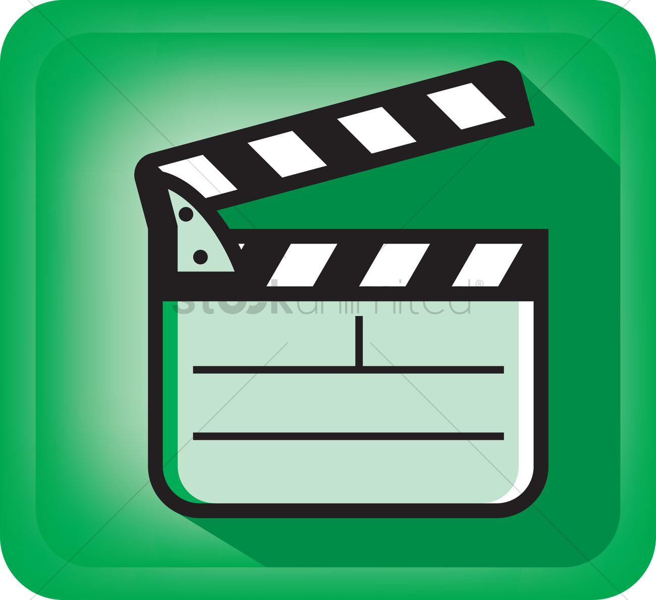 1300x1189 Film Clapboard Vector Image