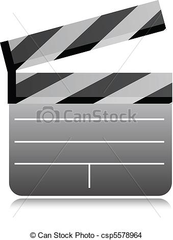 339x470 Film Clapboard Illustration Isolated Over A White Background.