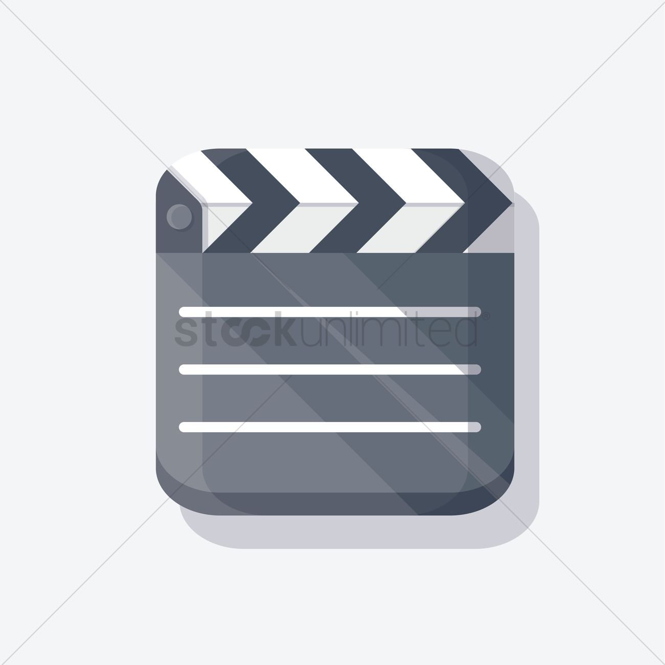 1300x1300 Free Clapboard Vector Image