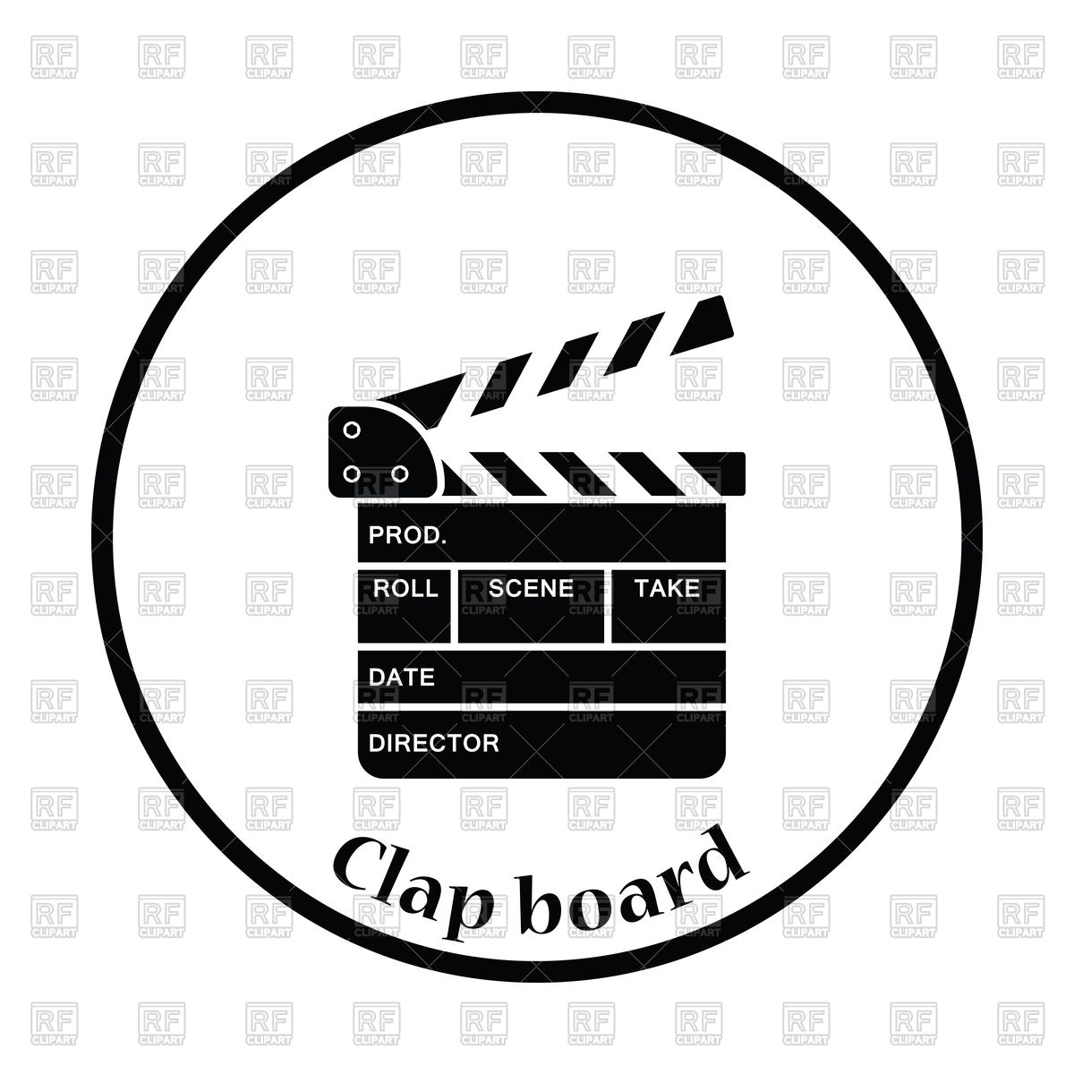 1200x1200 Movie Clap Board Icon Vector Image Vector Artwork Of Icons And