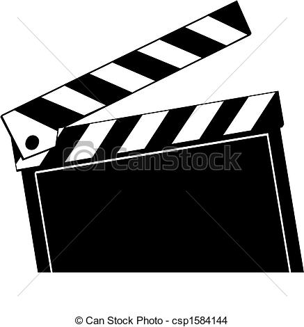 437x470 Opened Movie Clapboard Used By Movie Directors.