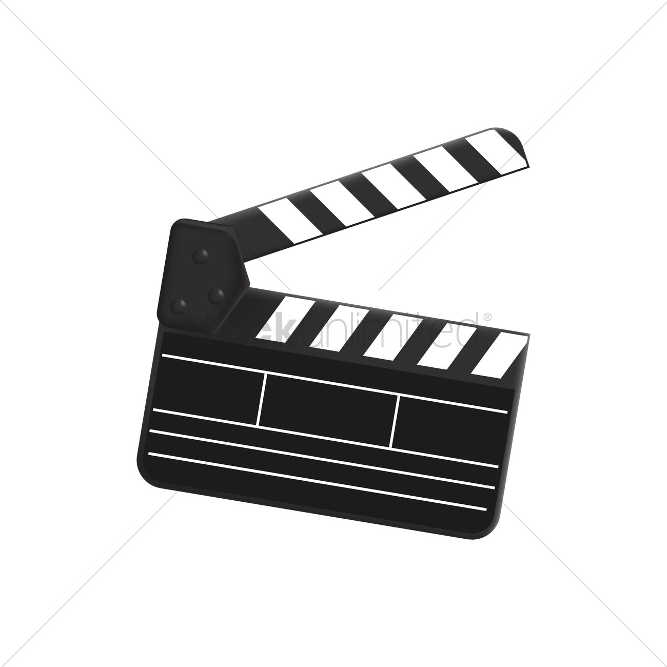 1300x1300 Clapper Board Vector Image