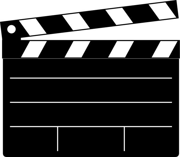 600x524 Clapper Board Clip Art Free Vector In Open Office Drawing Svg