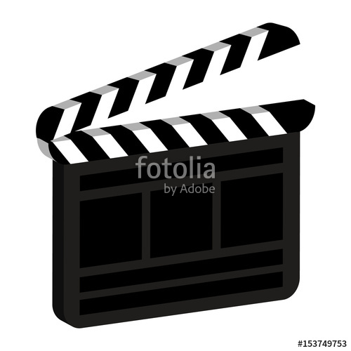500x500 Clapper Board Icon. Clapperboard Vector Illustration Isolated