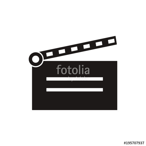 500x500 Clapper Board Vector Icon Stock Image And Royalty Free Vector