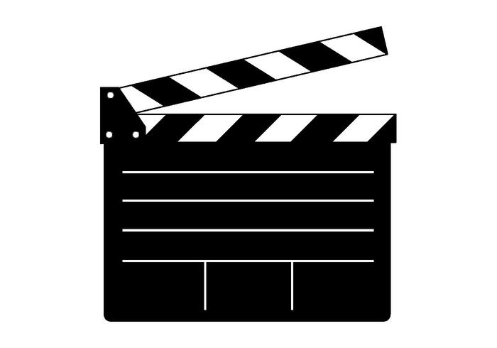 700x490 Free Clapper Board Vector